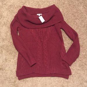 NWT Maurices thick knit off shoulder sweater